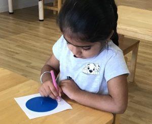 Montessori Activity at the table
